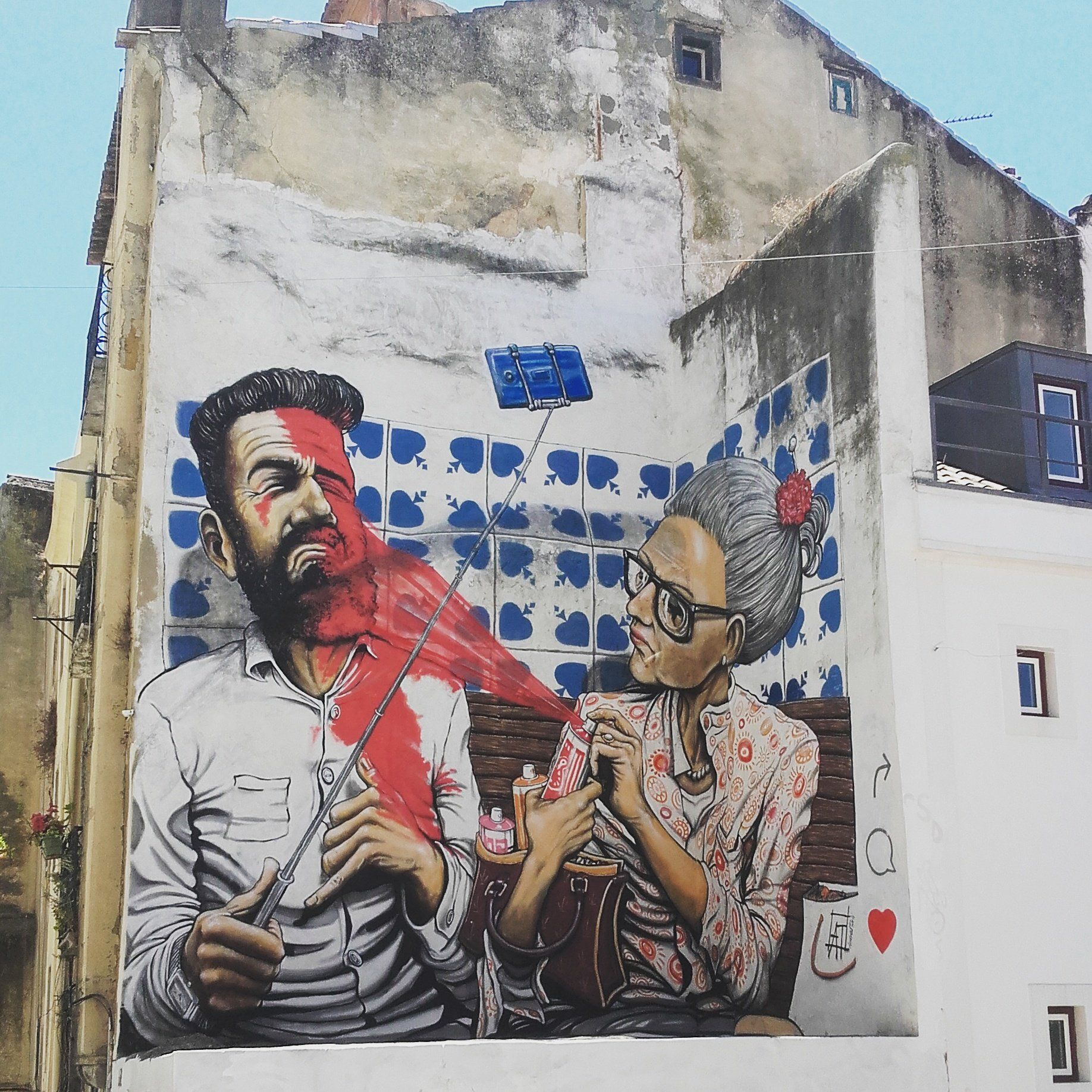 Alfama Lisbon Street Art Street Art Graffiti Pavement Art
