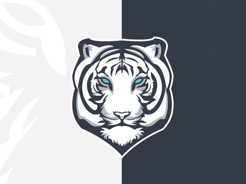 White Tiger Esport White Tiger Mascot Design Tribal Logo