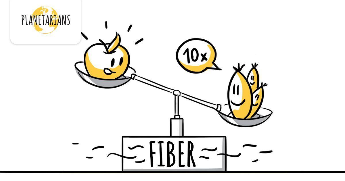 More fiber than veggies. Very filling dietary fiber. Good