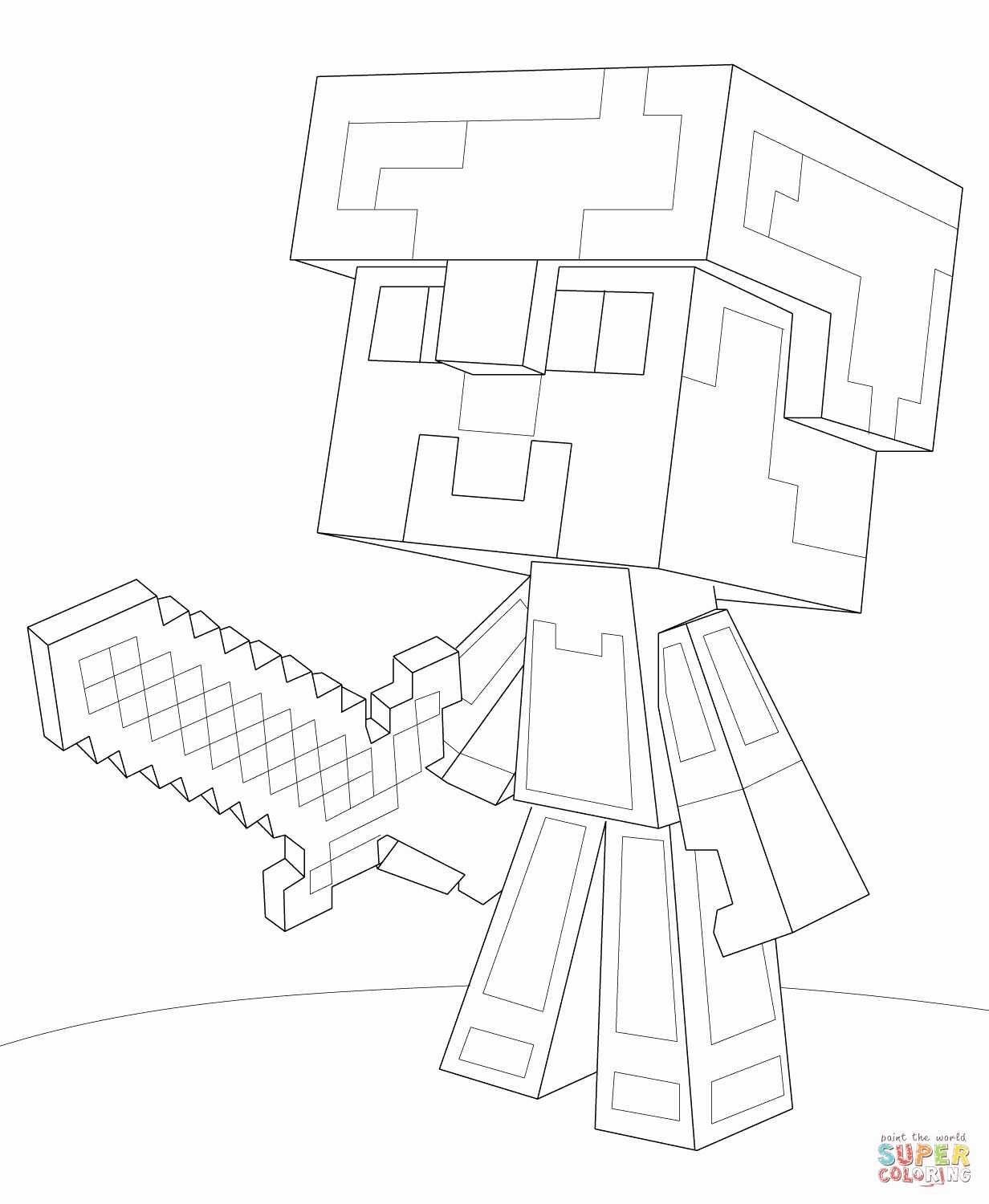 Minecraft Steve Coloring Page Lovely Minecraft Steve Diamond Armor Coloring Page In 2020 Minecraft Printables Minecraft Coloring Pages Minecraft Steve