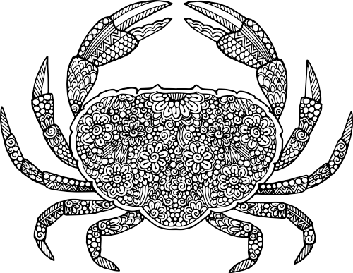 Mandala Crab Coloring Picture To Print Summer Coloring Pages Ocean Coloring Pages Mandala Coloring Pages