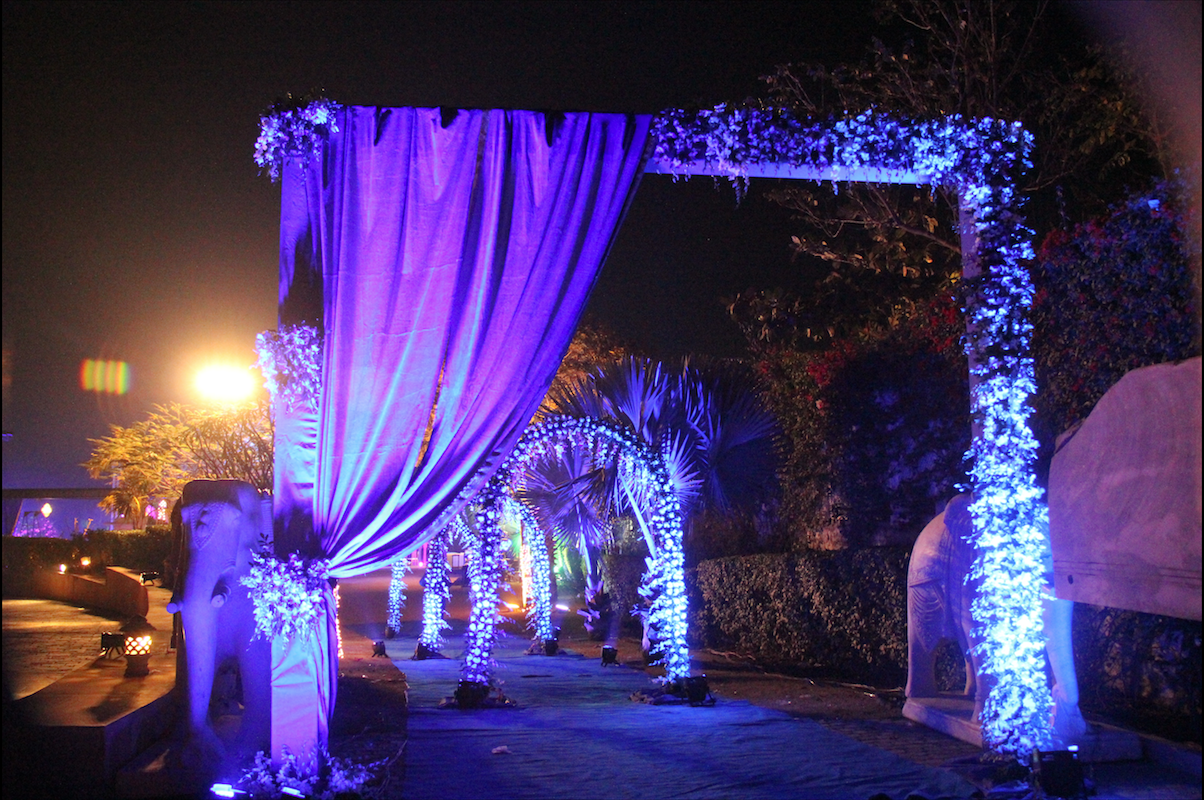 Event and celebrity management for Sangeet ceremony of
