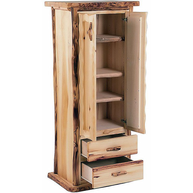 Great Pantry Cabinets For Small Spaces | Rustic Aspen Pantry Cabinet