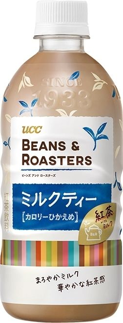 高評価 Ucc Beans Roasters ミルクティー ペット500mlの口コミ 評価 カロリー情報 もぐナビ ミルクティー パッケージデザイン パッケージ