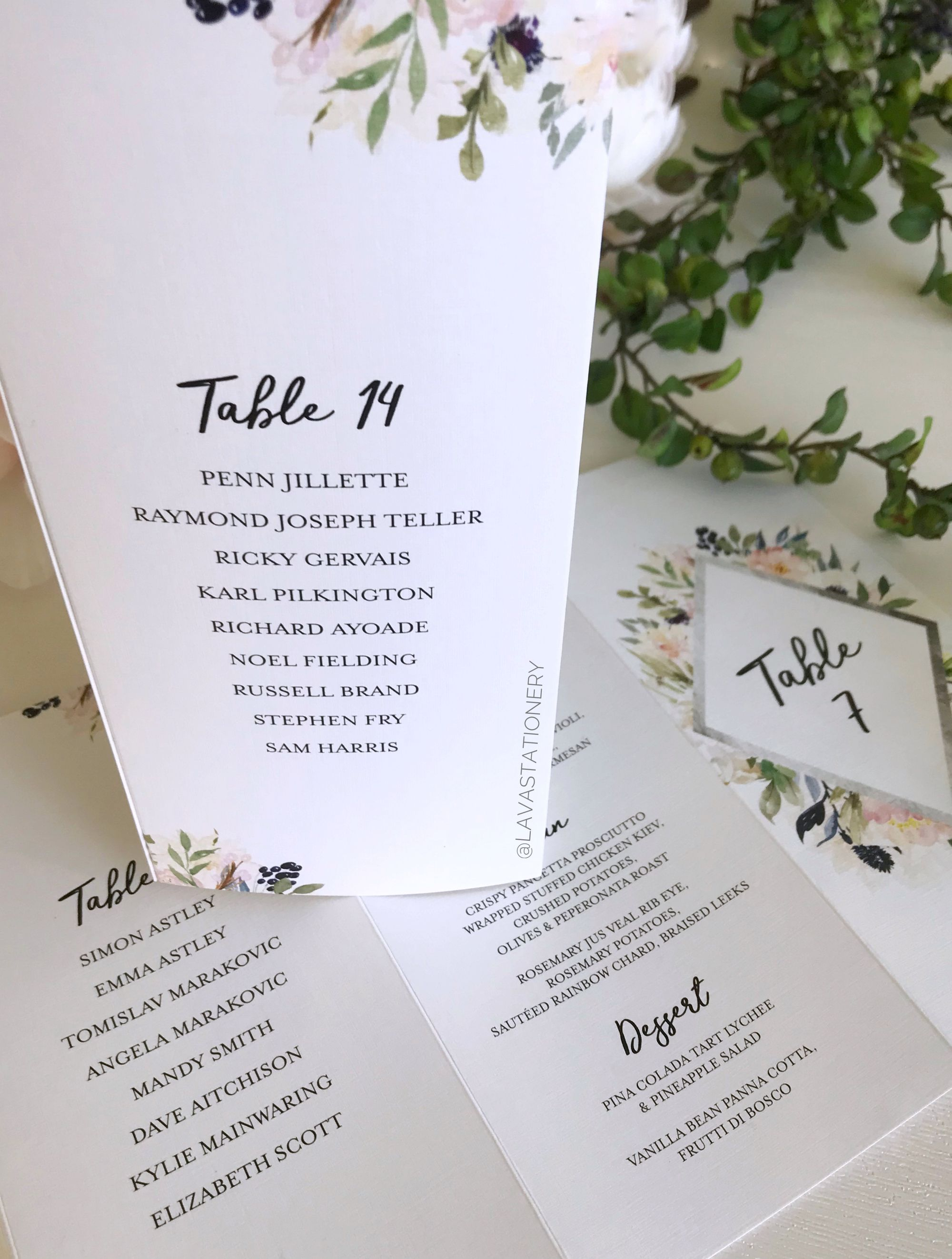 Three Panel Menu Stands For Renee Sebastian These Are Brilliant Because They Double Up As Ta Reception Stationery Wedding Table Numbers Floral Table Numbers