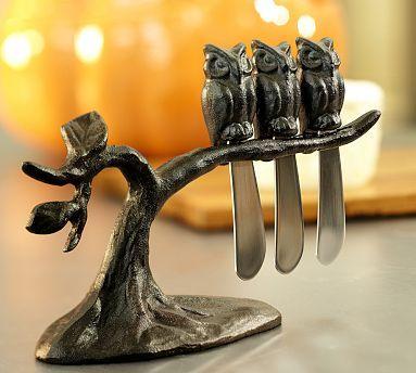 Owl Tree Spreaders Set #potterybarn  $32.50