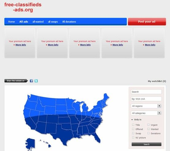 free-classifieds-ads org: Classified ads in United States of America