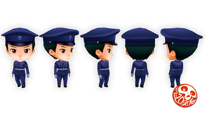 Anime Chibi  Officer Pack  Guard
