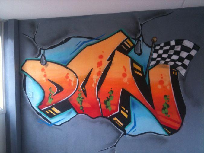 Slaapkamer jongen graffiti | slpk ideeën Tijmen | Pinterest ...
