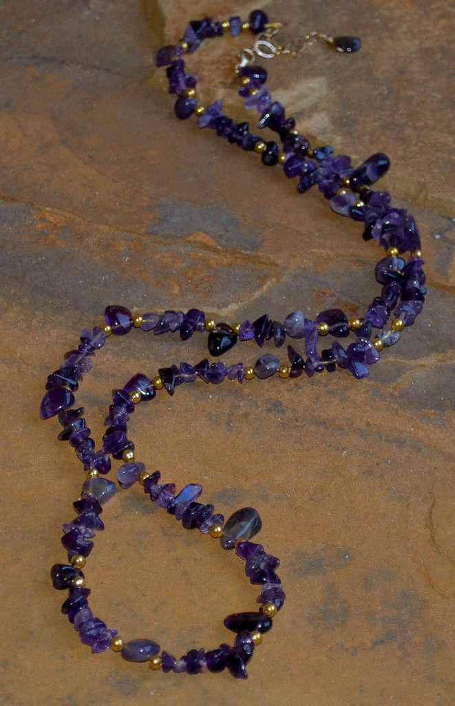 Amethyst GoldFilled Necklace Amethysts Beads and Jewelry ideas