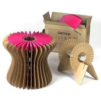 banquito hecho de cart n reciclable ecodise o reciclaje creativo pinterest pappe. Black Bedroom Furniture Sets. Home Design Ideas