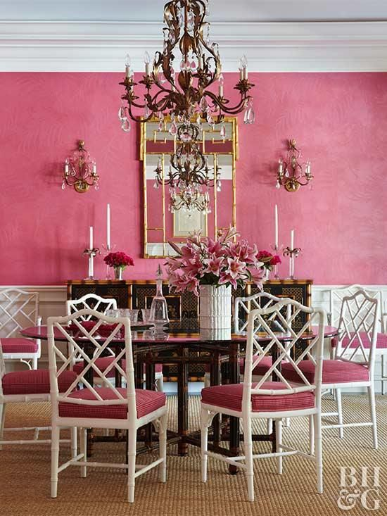 Decorating in Pink | Pink walls, Chinoiserie and Chandeliers