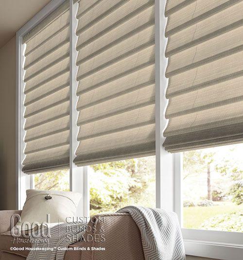 Small Living Room Window Treatments: Good Housekeeping™ Roman Shades: Light Filtering