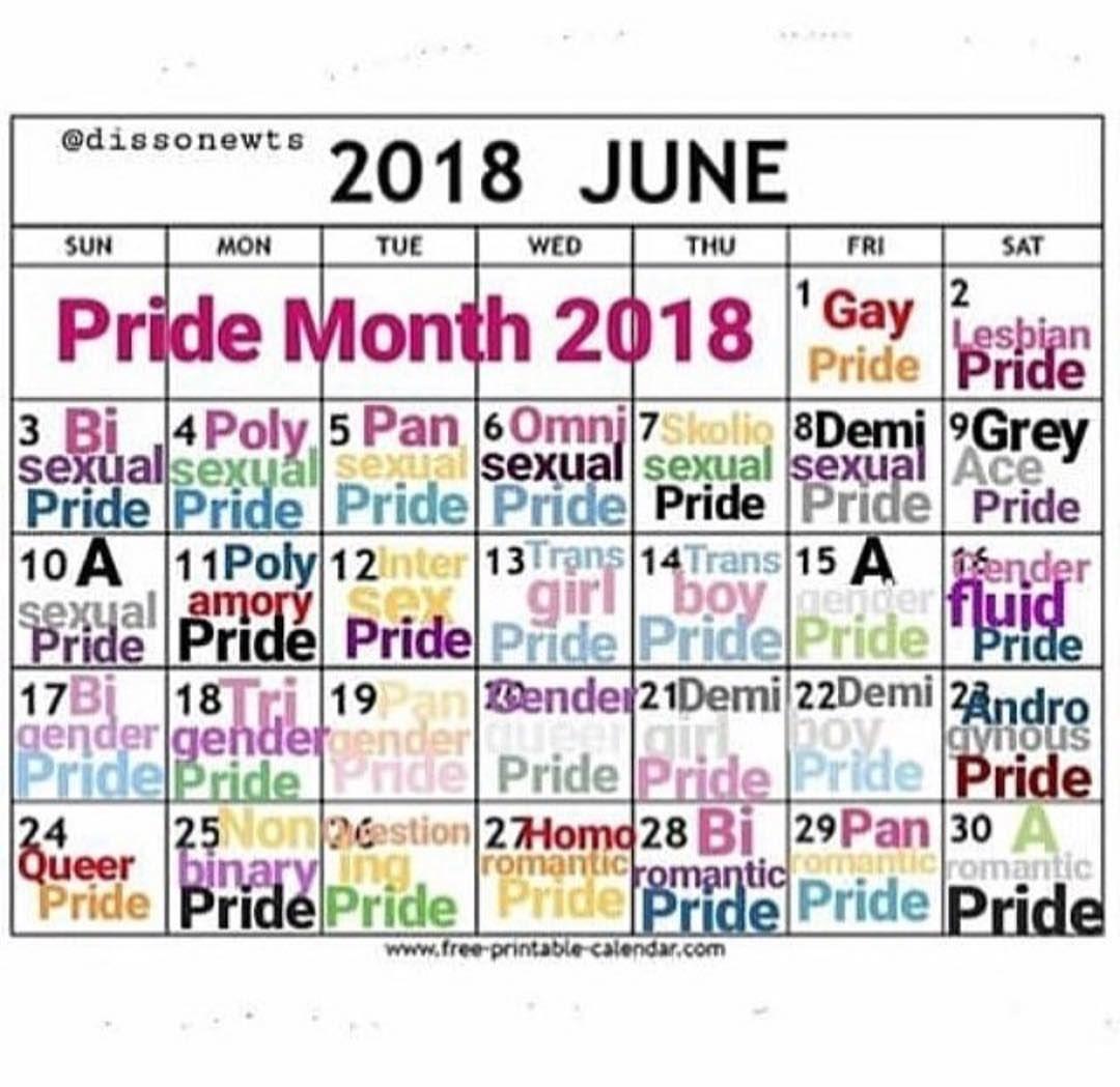 Image Result For Pride Month Calendar Pride Month Calendar Ace