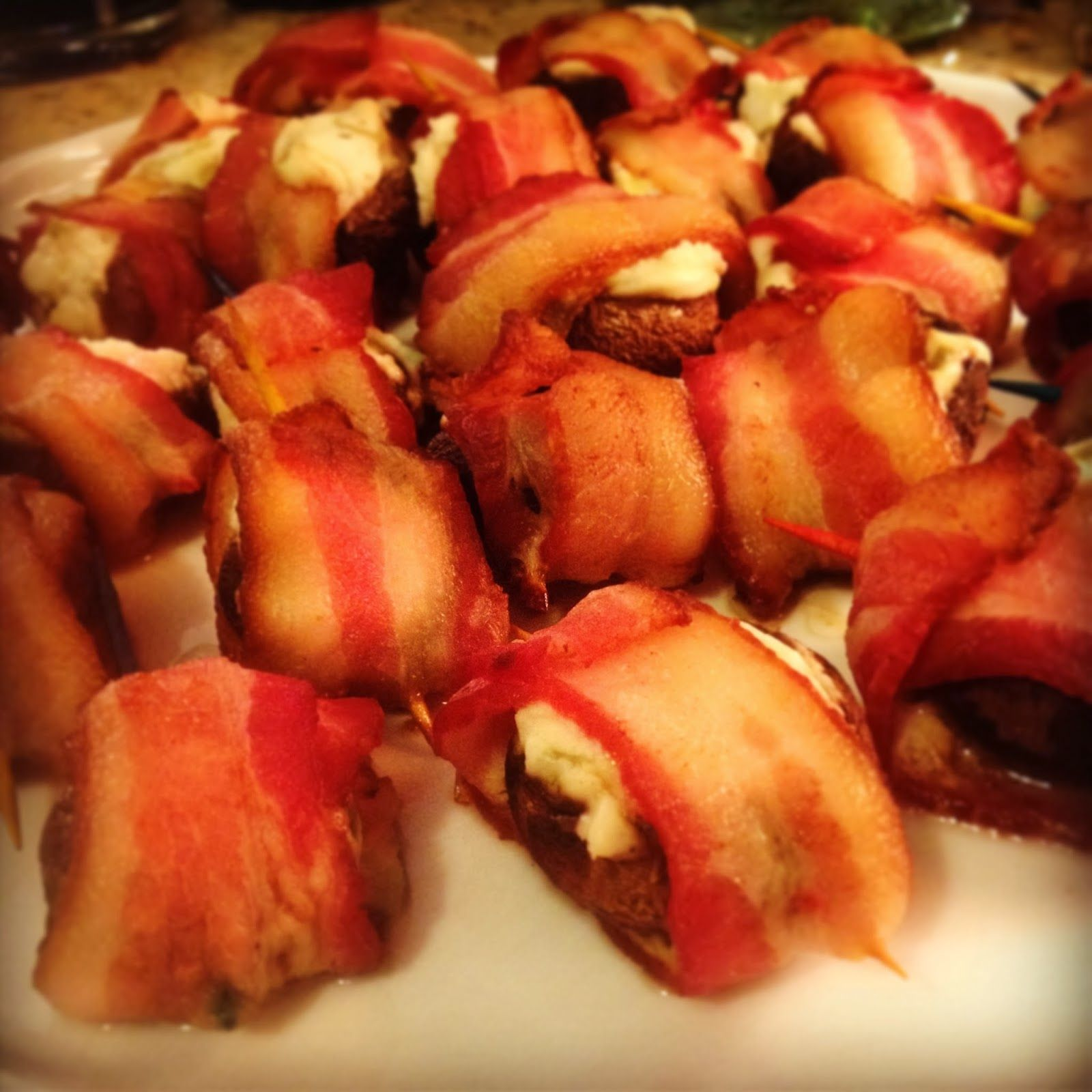 Bacon Wrapped Stuffed Mushrooms - Cooking with Brittany