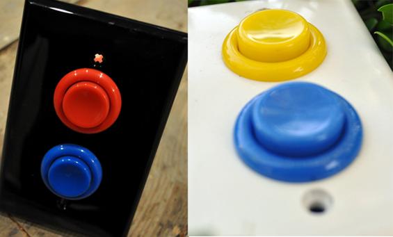 Light switch using sanwa buttons!