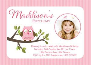 Girls birthday invitation owl party invitations online owl buy girls owl design party invitations online printable owl themed party invites cute girls filmwisefo