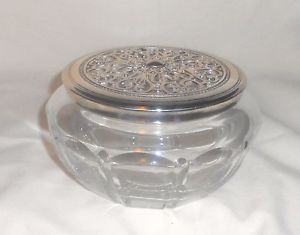 Brighton Collectibles Potpourri Holder Discontinued  09 Crystal Silver Heart Lid   eBay