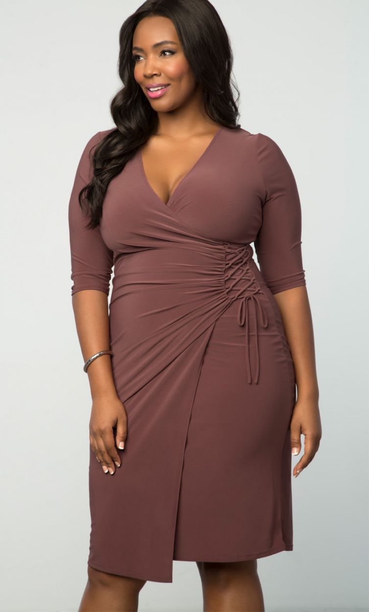 The Plus Size Vixen Cocktail Dress In Sedona Sunset Is Such A Lovely