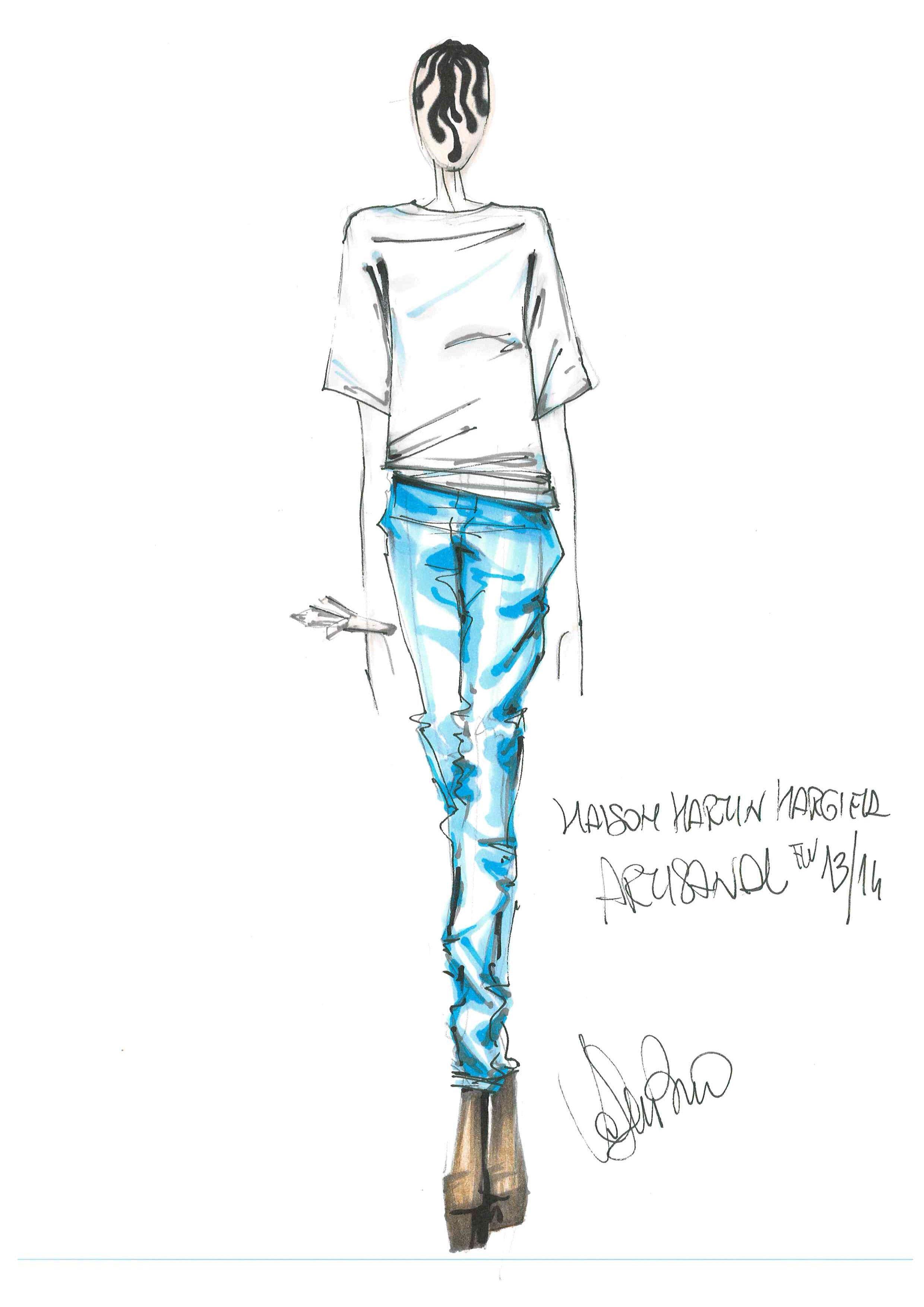 @Maison Martin Margiela nel #bozzetto di Valentino Fiammetta, #fashion #designer by #harim #accademiaeuromediterranea