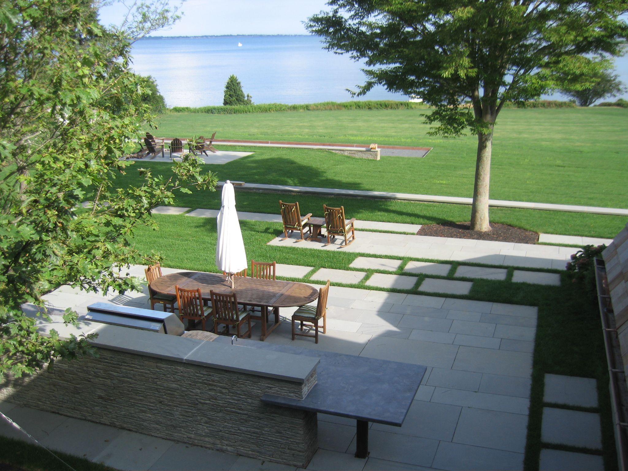 stone wall outdoor kitchen backsplash granite countertop reed hilderbrand landscape on outdoor kitchen backsplash id=24249