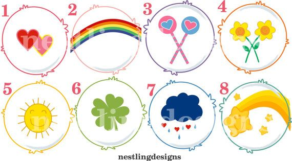 Influential image throughout care bear belly badges printable
