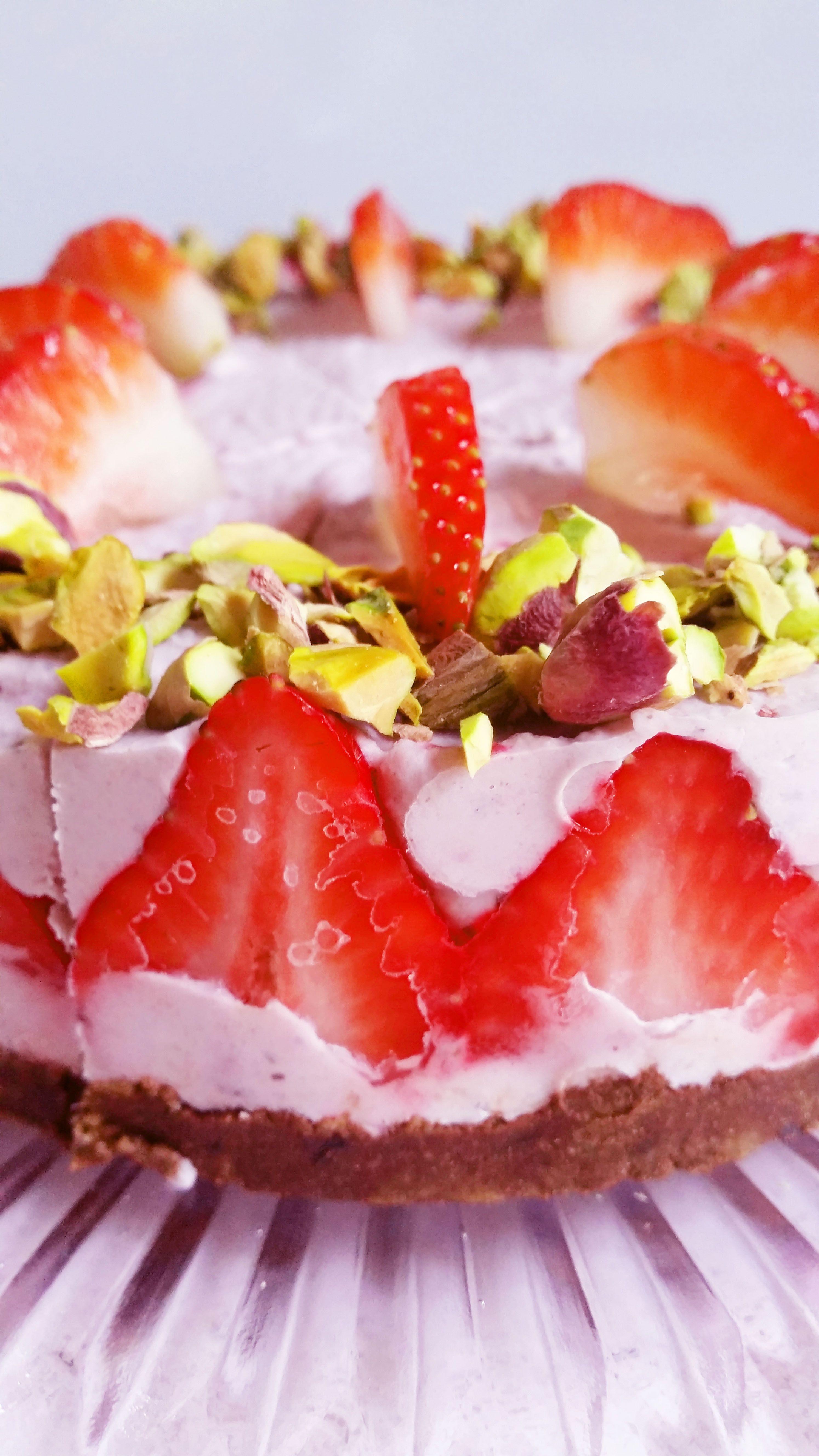 Mansikka-ruusuraakakakku   Terveelliset herkut