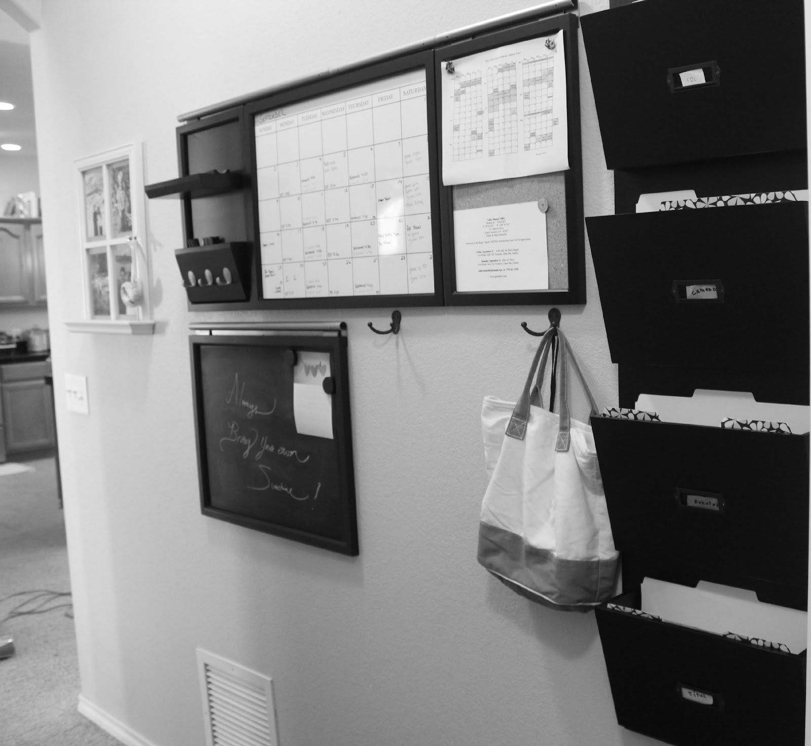 Moore Minutes: The school year ORGANIZED: our FAMILY PLANNER WALL and study areas