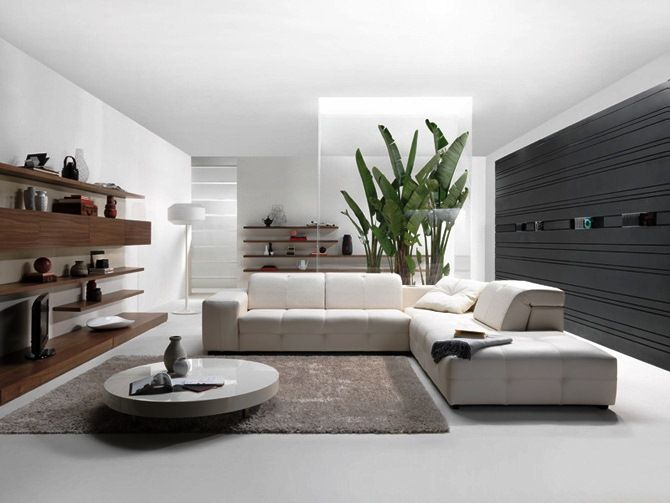 Decoration:Designing Living Room On Modern Home With Luxury White Style Couches Sofa And Stunning Floor Lamps With Lampshade Also Astounding Circle Table On Adorable Brown Rugs Plus Fascinating Wood Shelves Rack Elegant Furniture for Living Room: Increasing the Room with Selecting the Best Couches