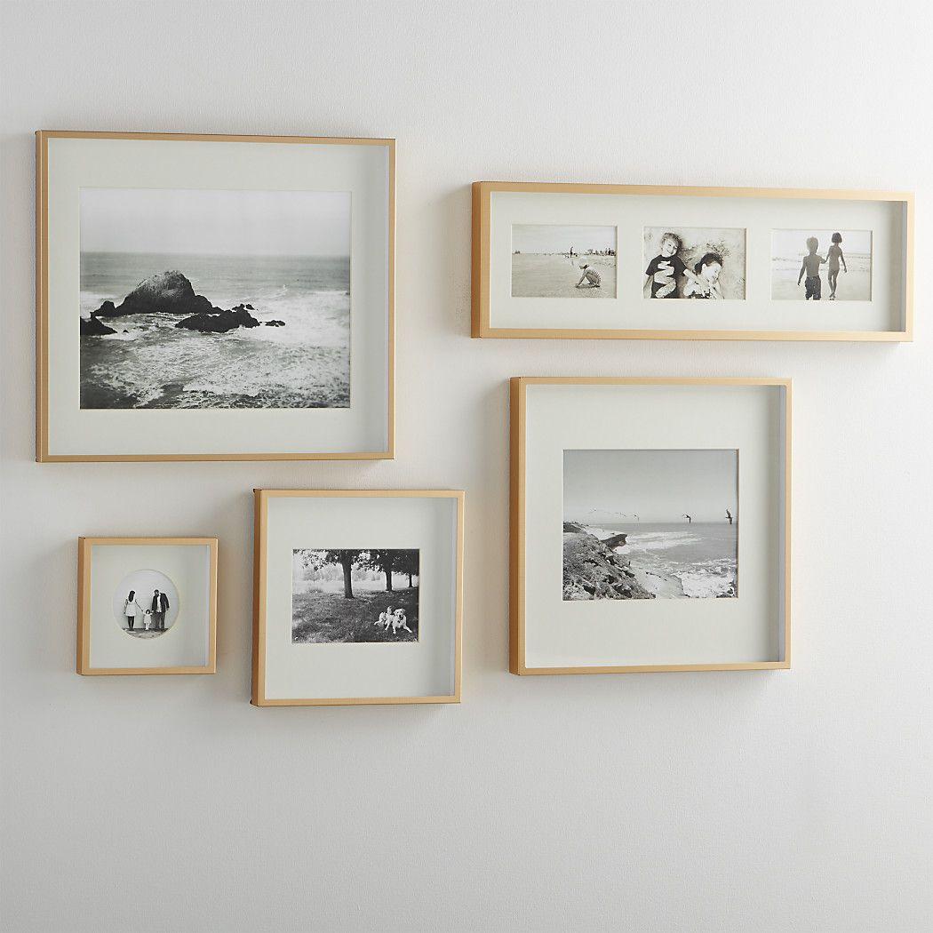 Brushedbrasswallframesf white home ideas pinterest walls