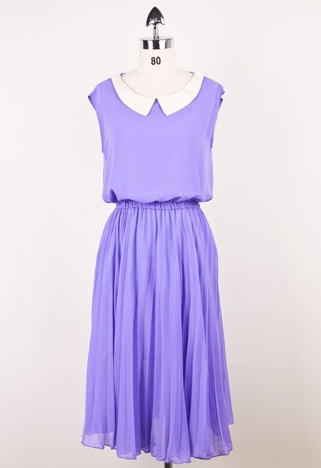 Lavender Dress With A Peter Pan Collar Wearables Pinterest