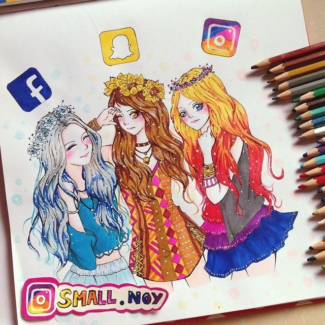 Facebook Snapchat Instagram Drawing By Smallnoy At Instagram