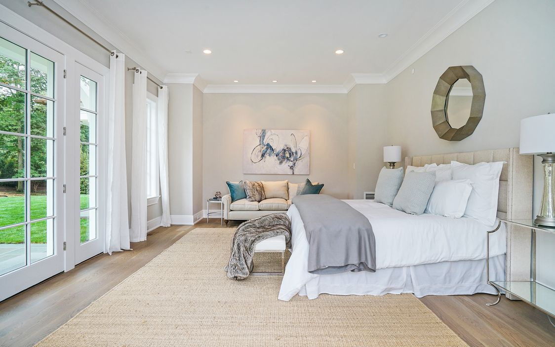 First floor master suite includes walk-in-closets, spa-like master