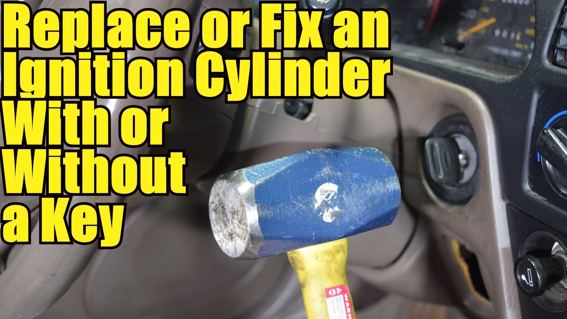 How to Replace or Fix an Ignition Lock Cylinder to Unlock