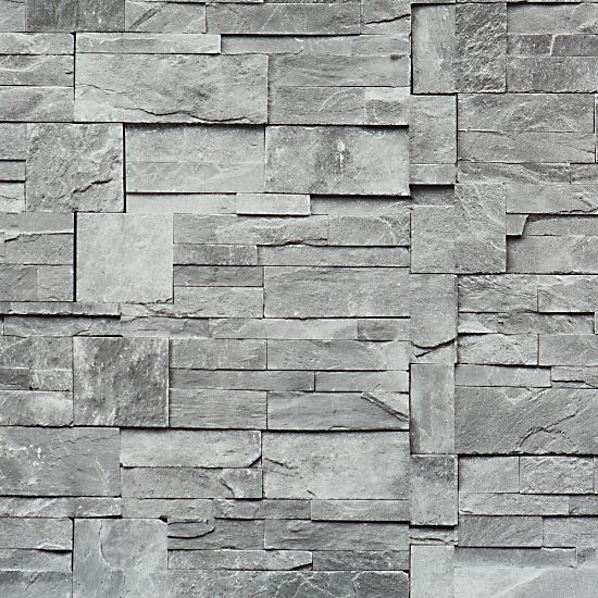 Taupe Stone Modern Residential Wallpaper R1875 brick