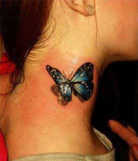 Pequenos Tatuajes Tatuaje Mariposa 3d Mariposa Tatuaje Increibles Tatuajes 3d