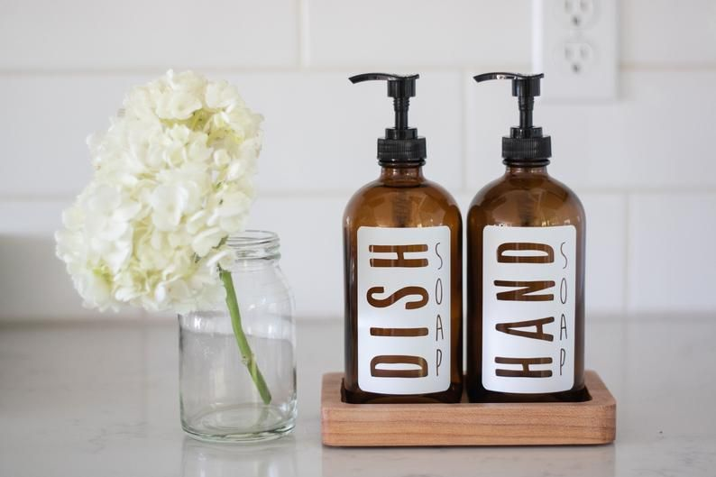Amber Glass Classic White Hand Soap Or Dish Soap Dispenser Collection Dish Soap Dispenser Kitchen Soap Dispenser Glass Soap Dispenser