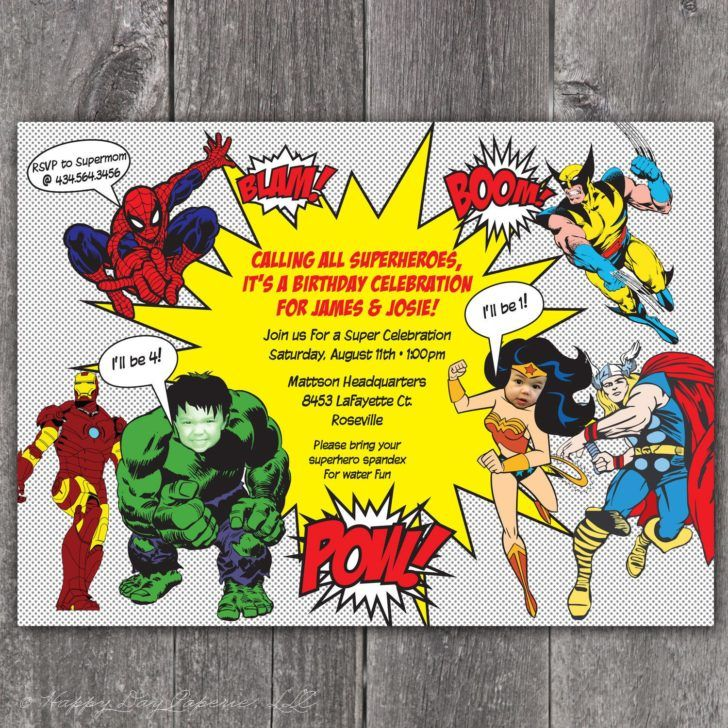 Birthday Calling All Superheros Party Invitation Wording Superhero