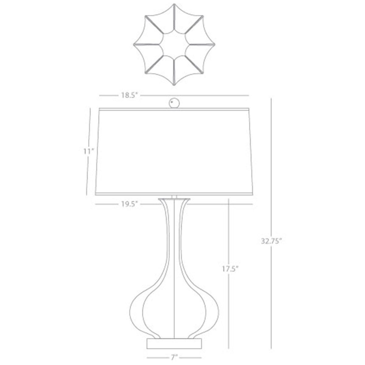 Robert Abbey Pike Table Lamp with Lucite Base TL996