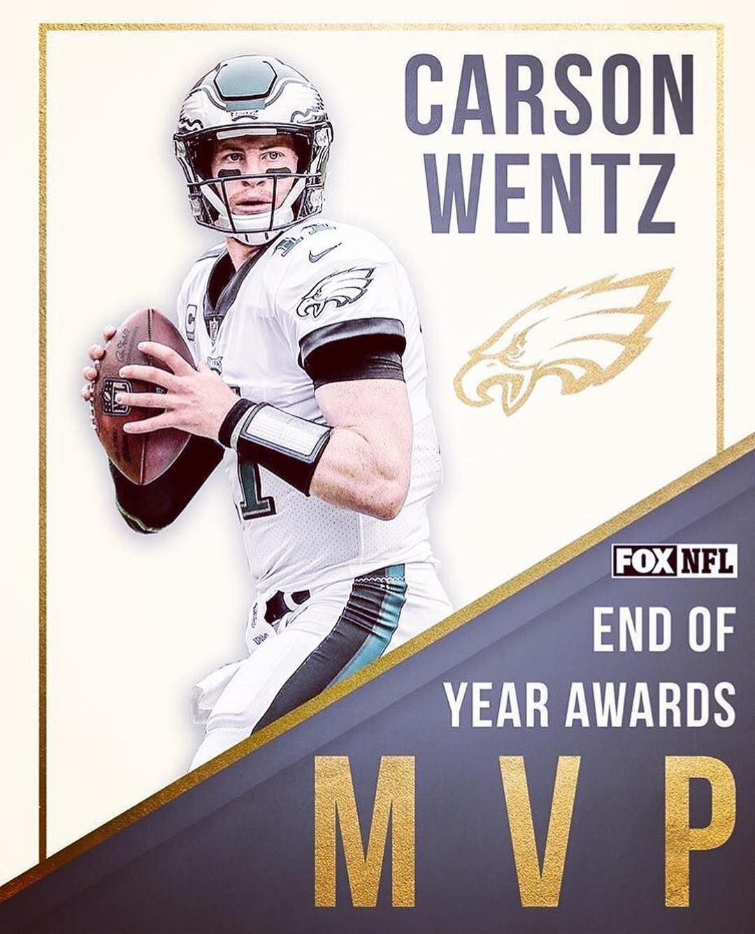 Carson Wentz has been named end of year MVP by  nflonfox!  flyeaglesfly c477594ec