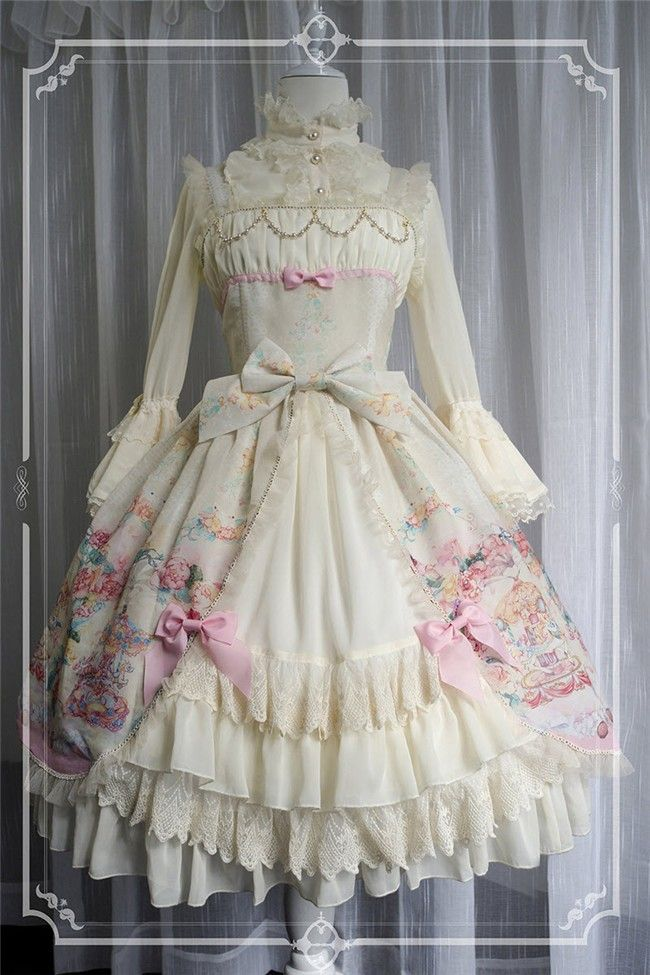 786cae28130 Equinox ~Bloomy Carousel~ Lolita Nomal Waist JSK - Version II - My Lolita  Dress