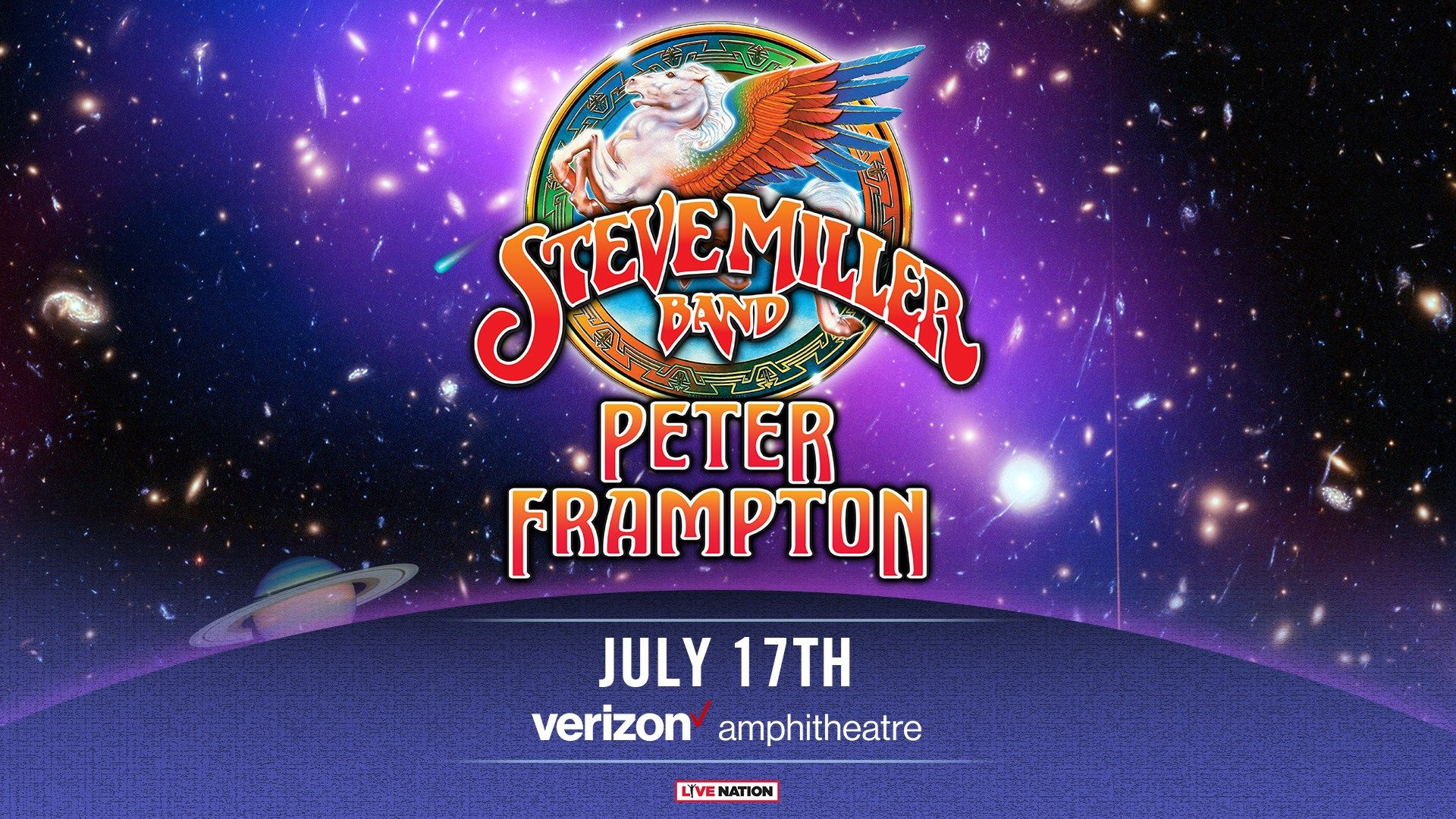 Win FOUR tickets to Steve Miller Band with Peter Frampton Want to see Steve Miller Band and Peter Frampton with three of your friends