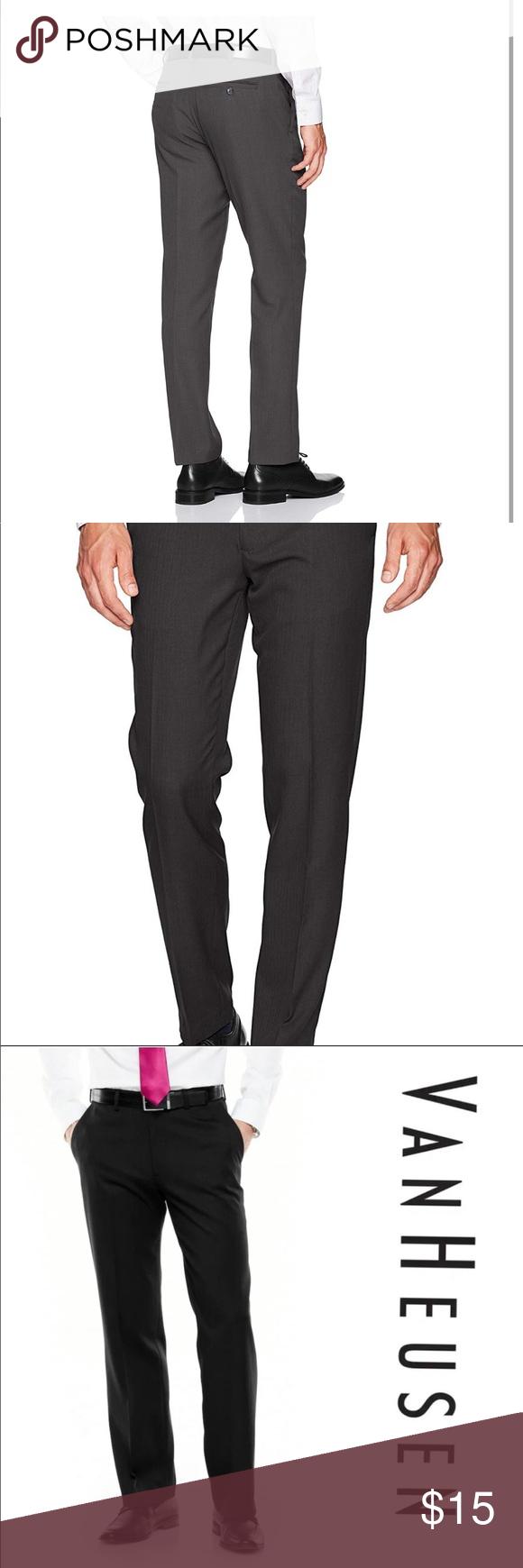 Van Heusen Black Dress Pants In 2020 Slim Fit Dress Pants Black Dress Slacks Navy Blue Dress Pants [ 1740 x 580 Pixel ]
