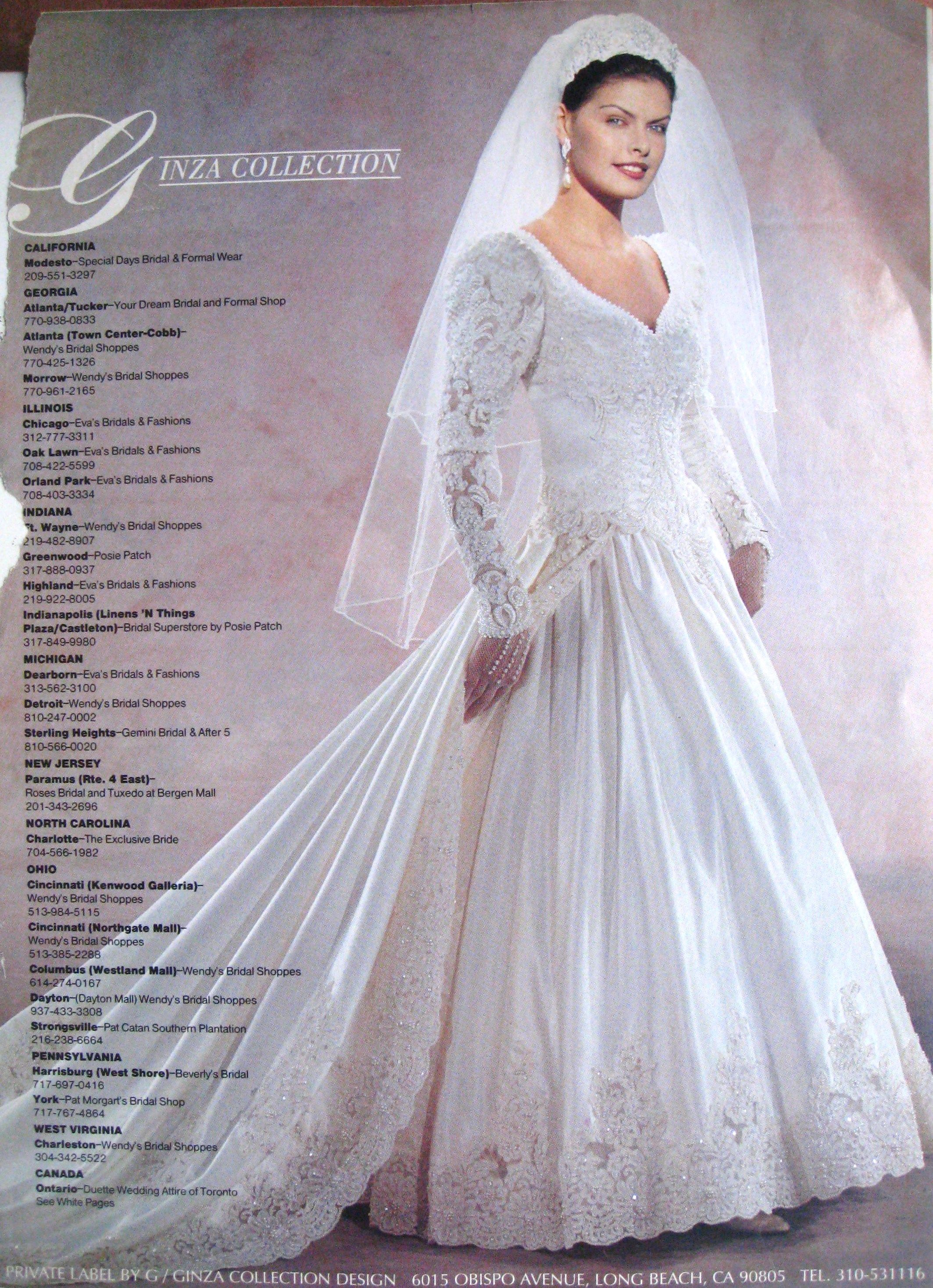 Ginza brand 1997. My second choice for my wedding gown. I did wear ...