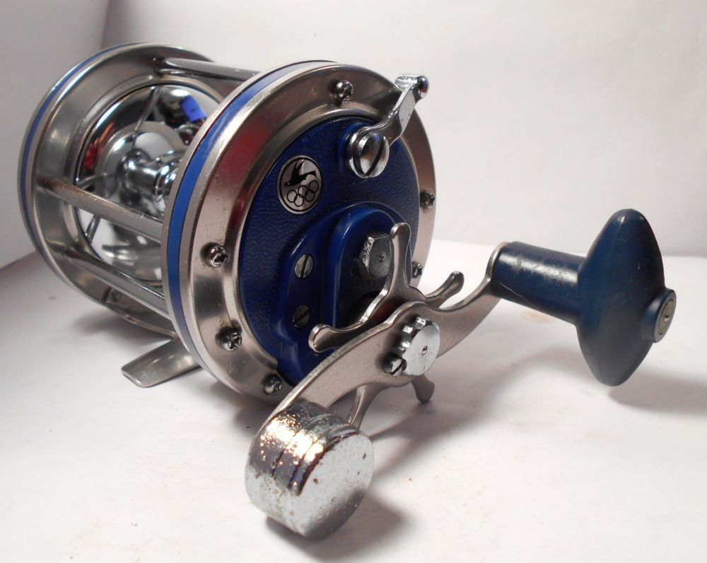 How to spool a conventional reel - Vintage Olympic Dolphin 614 Conventional Saltwater Fishing Reel Surf Pier Boat Olympic