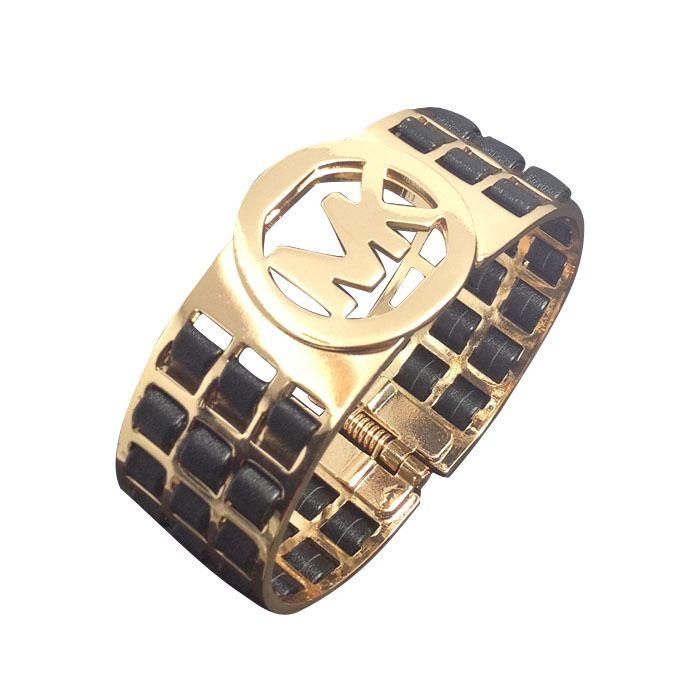 96d92b25d855 Newest Michael Kors Agate Logo Black Bracelets have Arrived!  #MichaelKorsBags