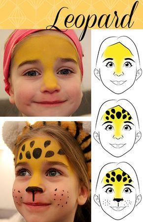 Photo of Karnevals-Schmink-Gesichter Leopard und Schmetterling – Haus…