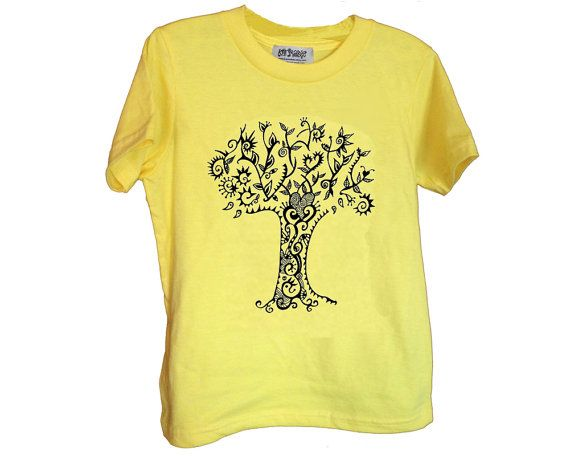 New tree design! Karmabee kids unisex tees are 100% cotton made in the USA by American Apparel and silkscreened in my Kingston, NY studio.