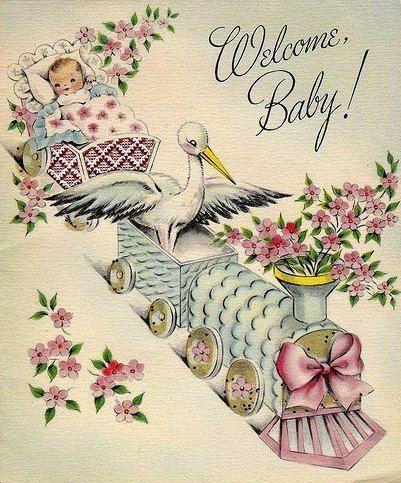 Открытка к рождению девочки на английском, февраля