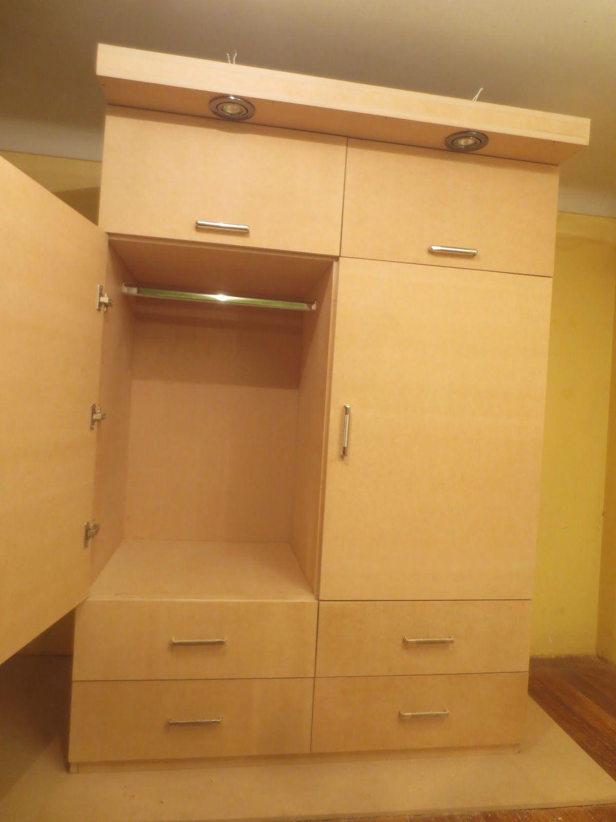 Como hacer un ropero o closet facil en mdf for Muebles en madera mdf